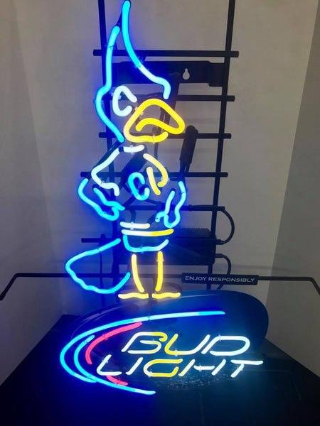 Rare Creighton Bud Light Bluejay Neon Sign Real Neon Light
