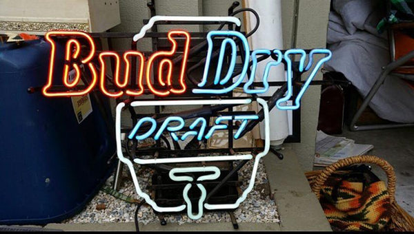 Bud Dry Bud Light Neon Sign Real Neon Light For Sale