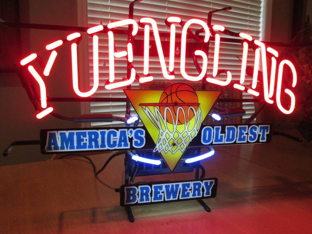 Yuengling America S Oldest Brewery Basketball Neon Sign Glass Tube