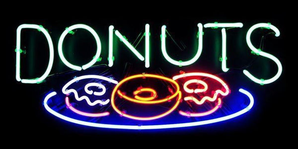Donuts Neon Sign Real Neon Light For Sale Hanto Neon Sign