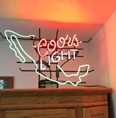 Coors Light Shark Neon Sign Glass Tube Neon Light