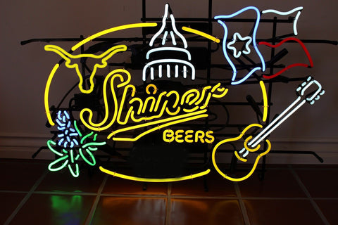 Shiner Beers Texas Austin longhorn Neon Sign For Beer Bar Pub Neon Light