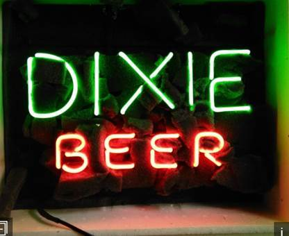 Dixie Beer Neon Sign Neon Light Real Neon Light