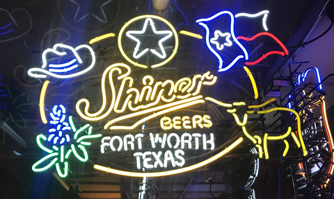Shiner Beer Fort Worth Texas Neon Sign Real Neon Light