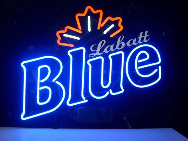 Labatt blue neon sign