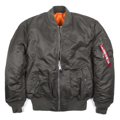 złapać szalona cena Los Angeles Alpha Industries MA-1 Bomber Flight Jacket Rep Grey