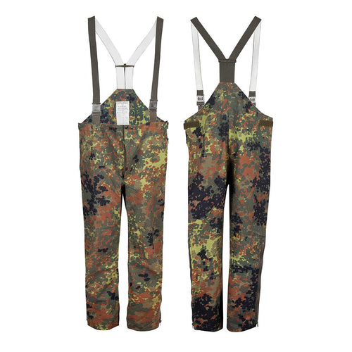 German Flecktarn Goretex Bib and Brace Trousers Supergrade Back and Front