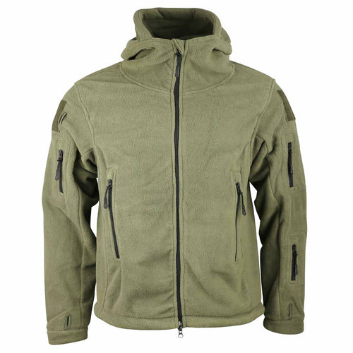 Kombat Recon Hoodie Olive Green Front View