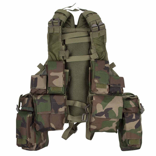 MFH South African Assault Vest Woodland Camo Front