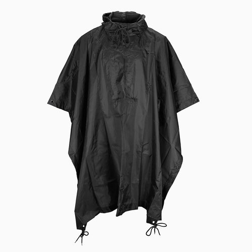 MFH Waterproof Ripstop Poncho Black Front