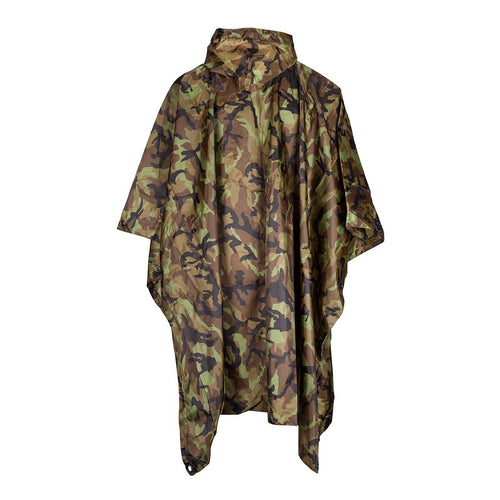 MFH Waterproof Ripstop Poncho Czech Woodland Back
