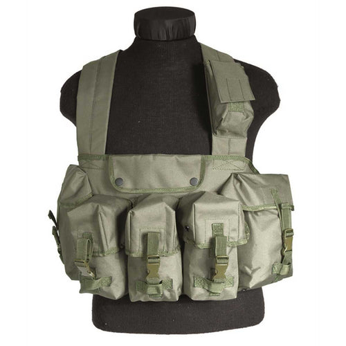 Mil-Tec Chest Rig Olive Green Front