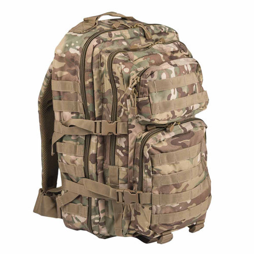 Mil-Tec Large 36L MOLLE Assault Pack Multitarn Angle