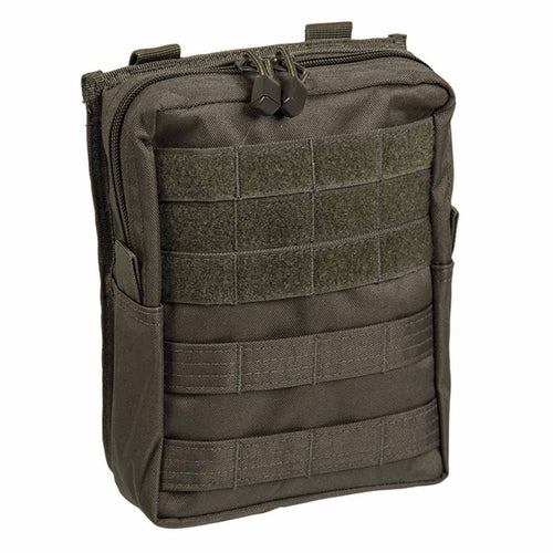 Mil-Tec Large Zipped MOLLE Belt Pouch Olive Green Front