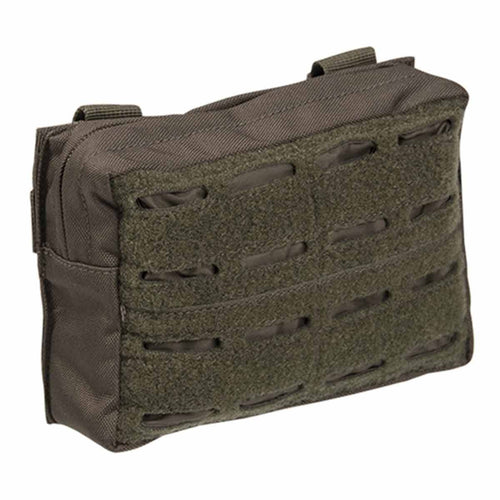 Mil-Tec Laser Cut Belt Pouch Olive Green Front