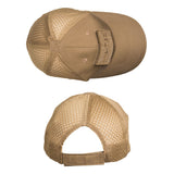 Mil-Tec Net Baseball Cap Dark Coyote Top and Rear