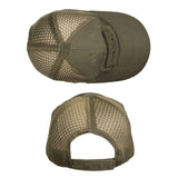 Mil-Tec Net Baseball Cap Olive Top and Rear