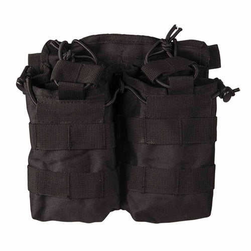 Mil-Tec Open Top Double Ammo Pouch Black Front