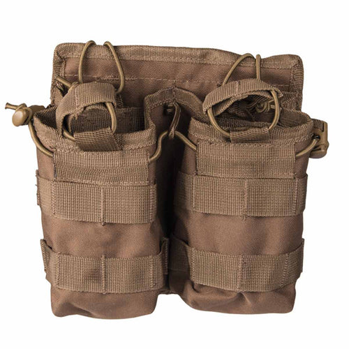 Mil-Tec Open Top Double Ammo Pouch Dark Coyote Front