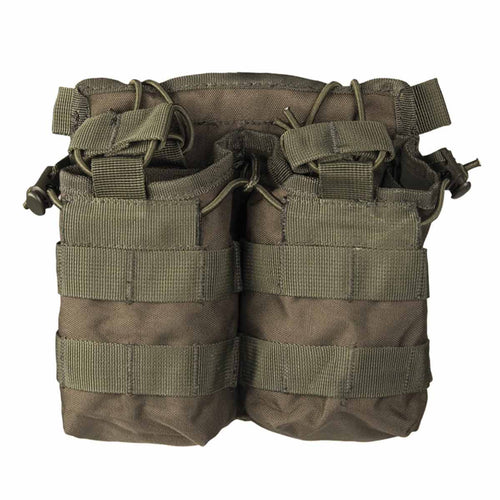 Mil-Tec Open Top Double Ammo Pouch Olive Green Front