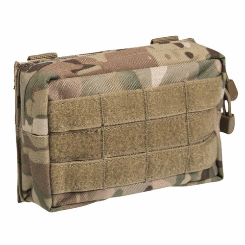 Mil-Tec Small Zipped MOLLE Belt Pouch Multitarn Front