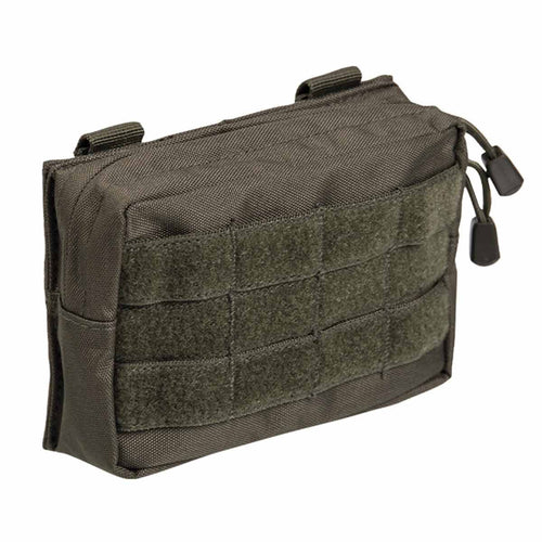Mil-Tec Small Zipped MOLLE Belt Pouch Olive Green Front