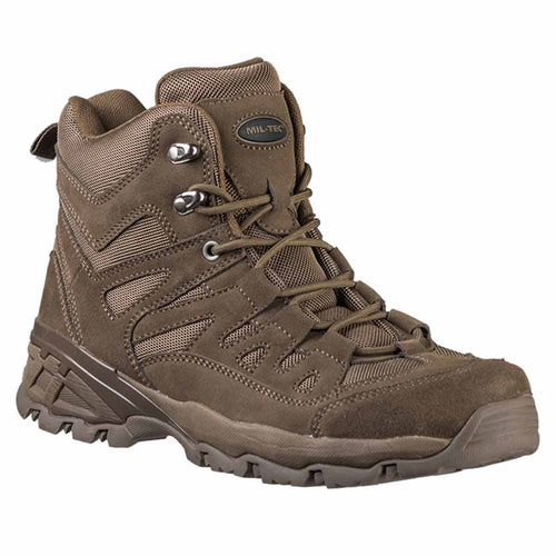 Mil-Tec Squad Boots Brown Angle