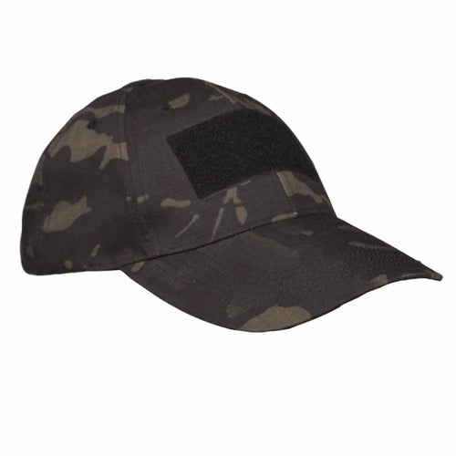 Mil-Tec Tactical Baseball Cap Multitarn Black Angle