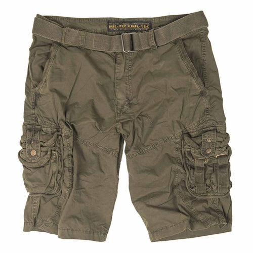 Mil-Tec Vintage Survival Shorts Olive Green