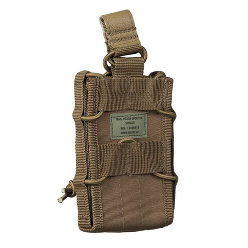 Mil-Tec Open top Single Magazine Pouch Dark Coyote