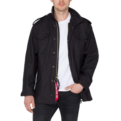 alpha m65 field jacket black