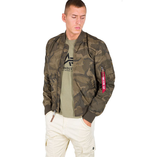 alpha industries ma-1 tt flight jacket olive camo