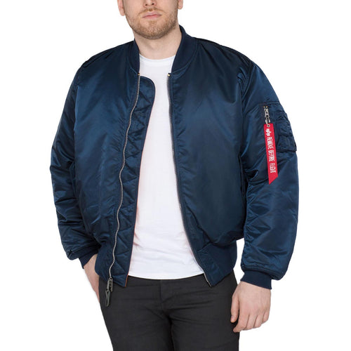 alpha industries ma1 bomber flight jacket replica blue