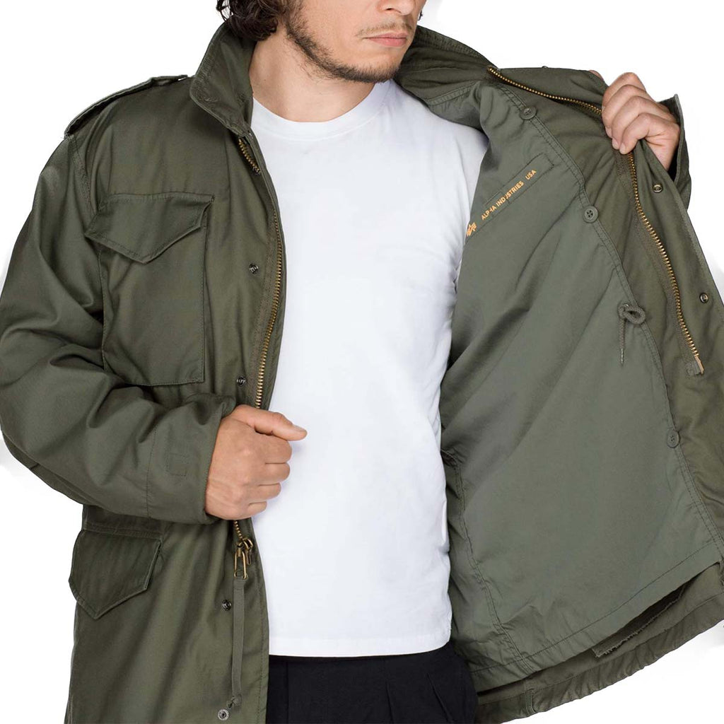 hottest sale largest selection of 2019 factory outlets Alpha Industries M-65 Field Jacket Olive Green