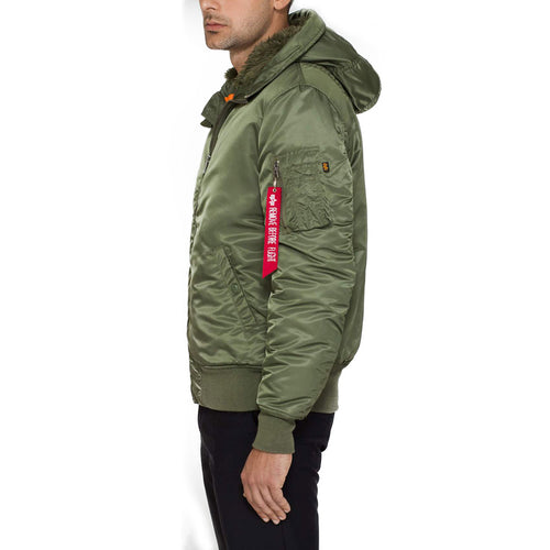 85f551841 Alpha Industries MA-1 Hooded Bomber Jacket Sage Green   Military Kit
