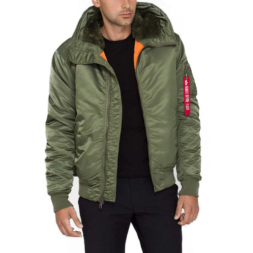 alpha industries ma1 hooded bomber jacket sage green