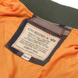genuine label on alpha ma1 tt flight jacket