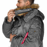 removable faux fur on grey n3b parka