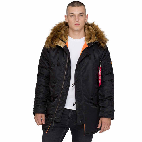 alpha industries black n3b vf59 parka