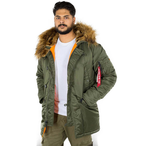 alpha industries n3b parka vf 59 dark green