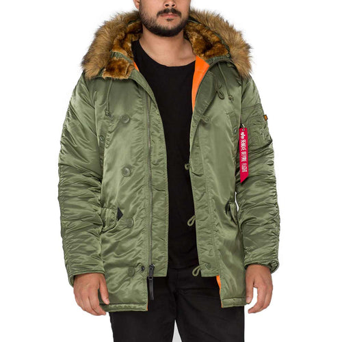 alpha industries n3b vf59 parka sage green