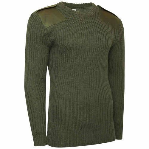 olive green army commando crew neck jumper