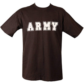 black printed army tshirt