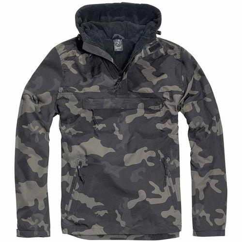 Brandit Windbreaker Jacket Dark Camo