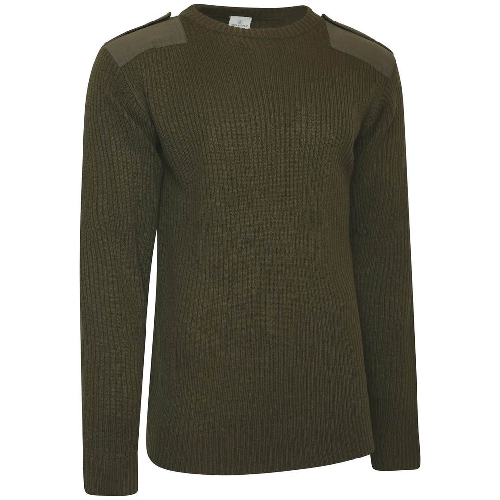 WOOLLY PULLOVER,CREW NECK BRITISH ARMY SURPLUS ISSUE OLIVE GREEN COMBAT JUMPER