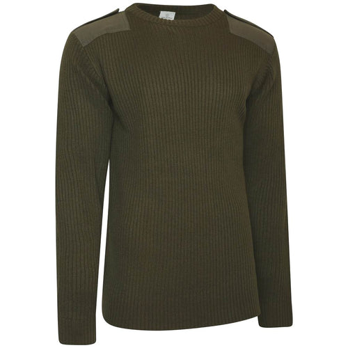 British Army Green Commando Jumper Shirt Front