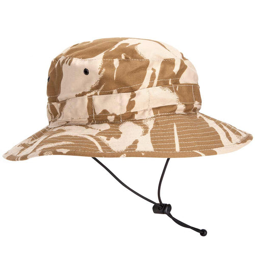 british army desert camo bush hat chinstrap