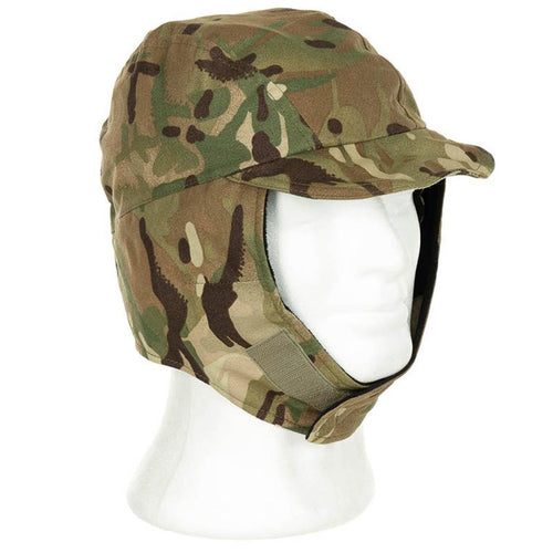 British Army Goretex Cold Weather Cap Flaps Down MTP Camo