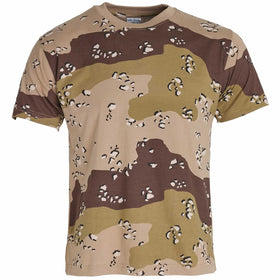 choc chip 6 colour desert camo tshirt