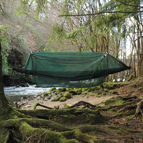 dd hammock mosquito net deployed outdoors
